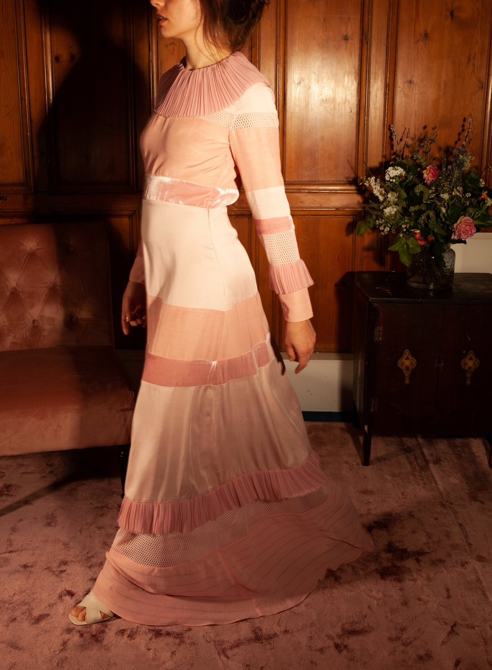 Sustainable pink gown by Baue