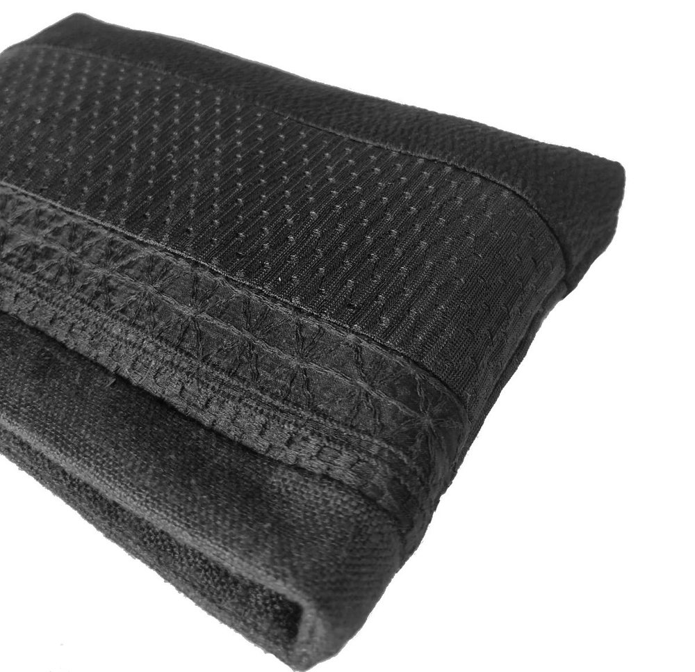 sustainable small black makeup pouch