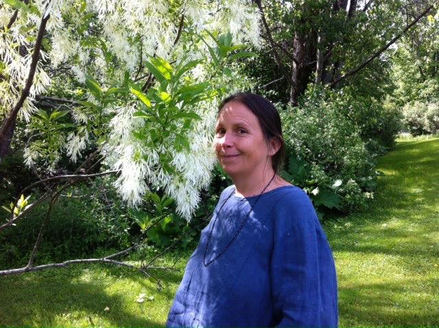 Betzy with fringe tree.jpg