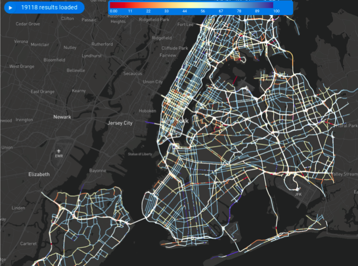 Road quality assessment for NYC (Source:  Geotab )