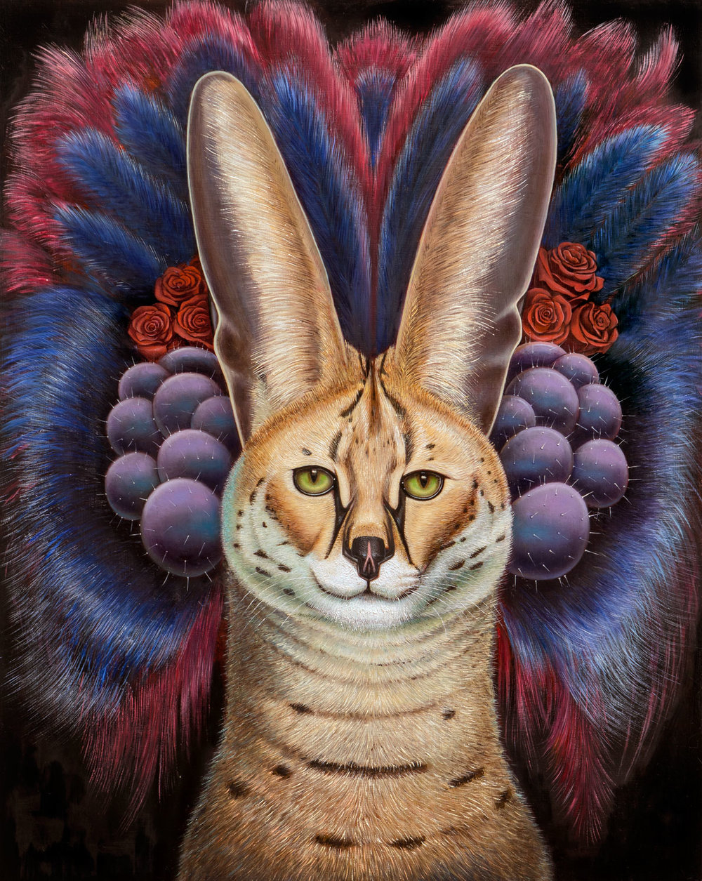 """El Felino de Oro""  2016, Oil on Wood Panel, 20 x 16 in.   Inquire"