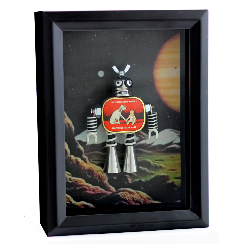 """Dog/Baby Red Shadowbox"""