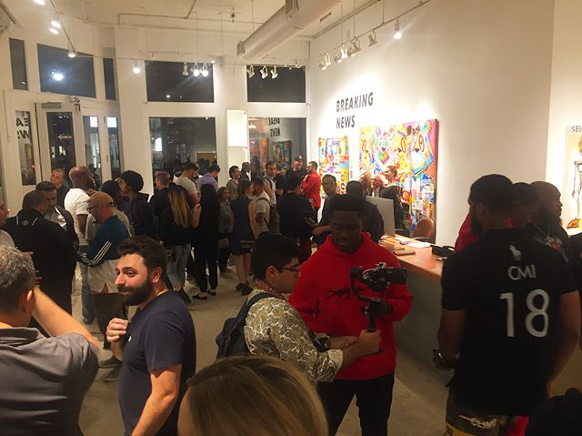 Thanks so much to everyone who came out last night to the opening of Breaking News! King Saladeen (@kingsaladeen) and Mister E's (@mister_e) work, curated by @nyseinsteintuchman and @smithdouglasjames will be on view at AFA through Oct. 7th.  #afanyc