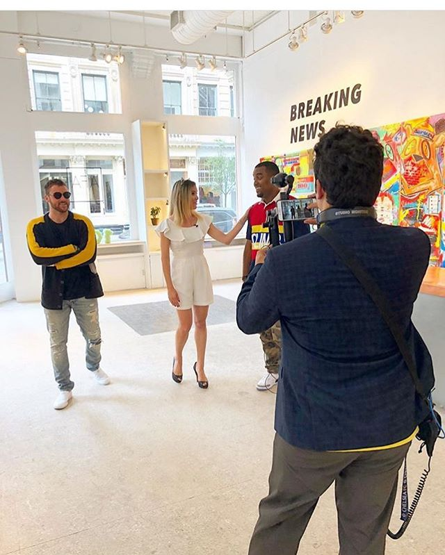 @oliviavoz 's interview with artists @kingsaladeen, @mister_e, and curator @smithdouglasjames is now live on the @modernwallstreet website!  The Breaking News exhibition is on view now through October 7th.  #afanyc