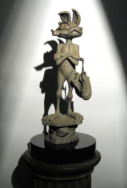 """Wile E. Coyote Sculpture"""