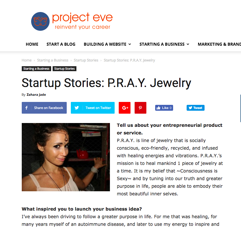 Start-Up Feature: P.R.A.Y. Jewelry/ Z+J