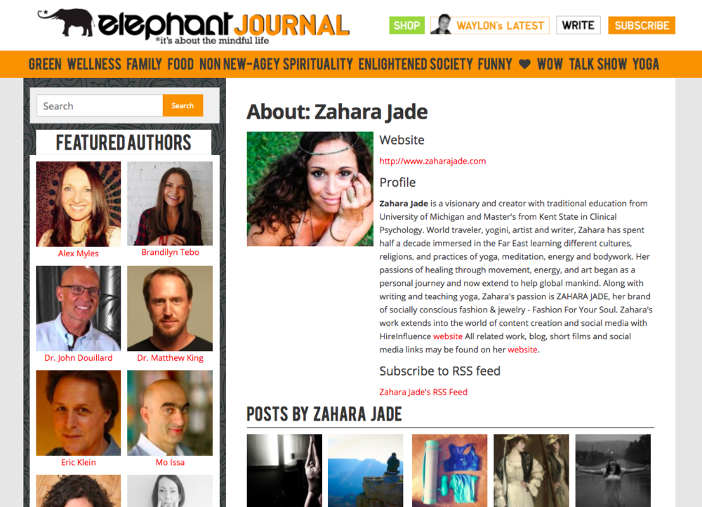 Featured Multiple Times on Elephant Journal