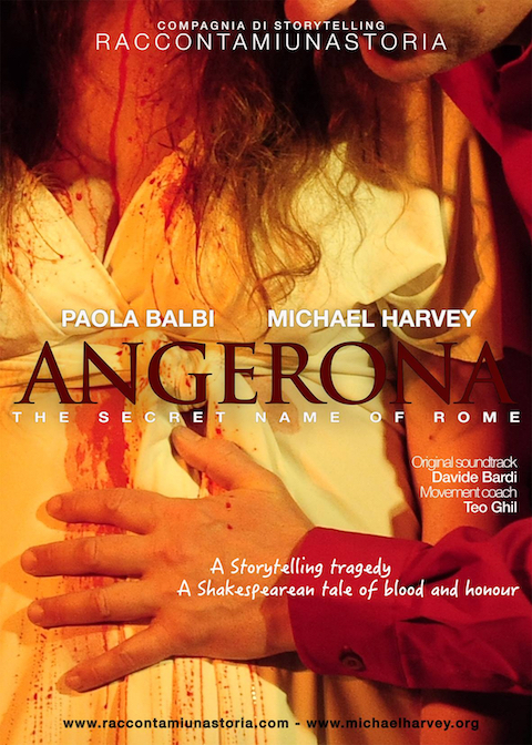 Michael Harvey storyteller  angerona flyer