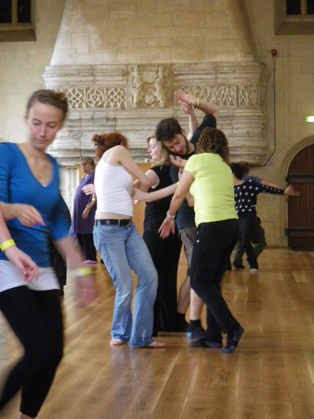 Physical work in Shakespeare and Storytelling workshop