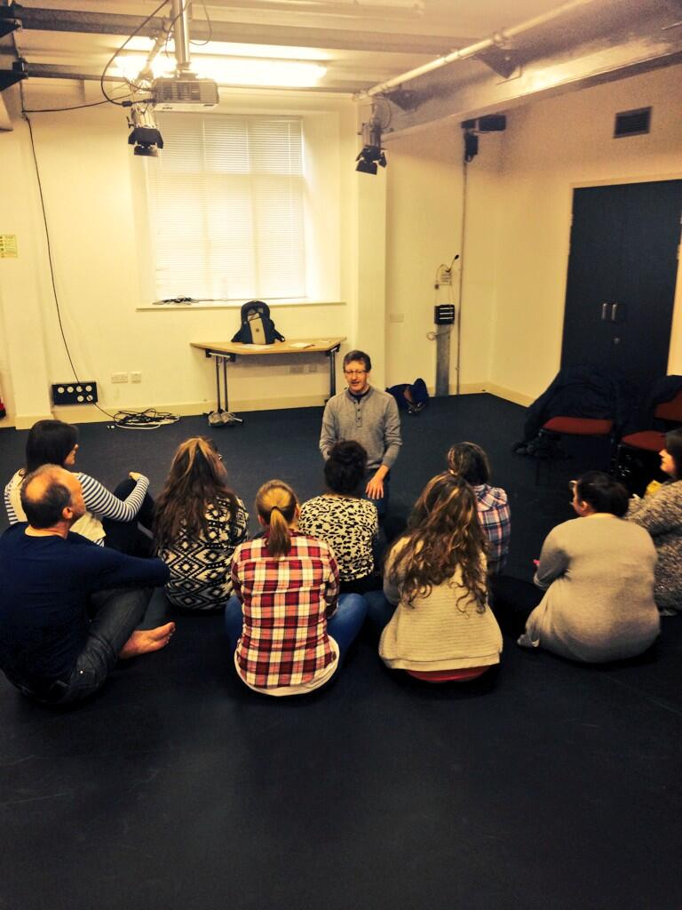 Michael Harvey storyteller - student w/s Aberystwyth