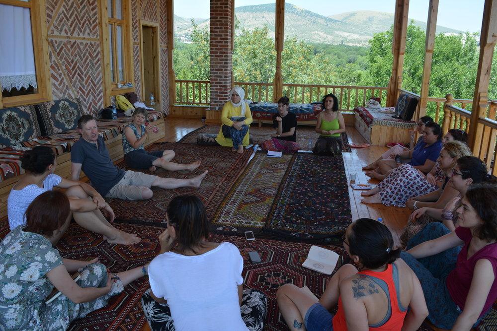 Michael Harvey storyelling workshop with SEIBA, Turkey