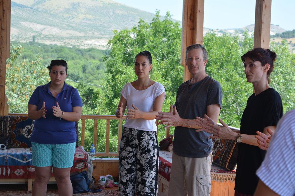 Storytelling and Rhythm workshop, Turkey