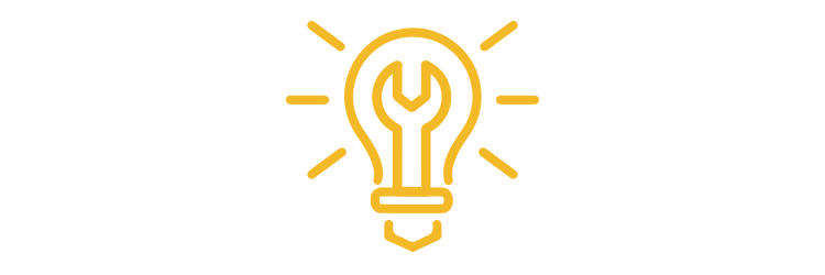 Lightbulb and wrench icon