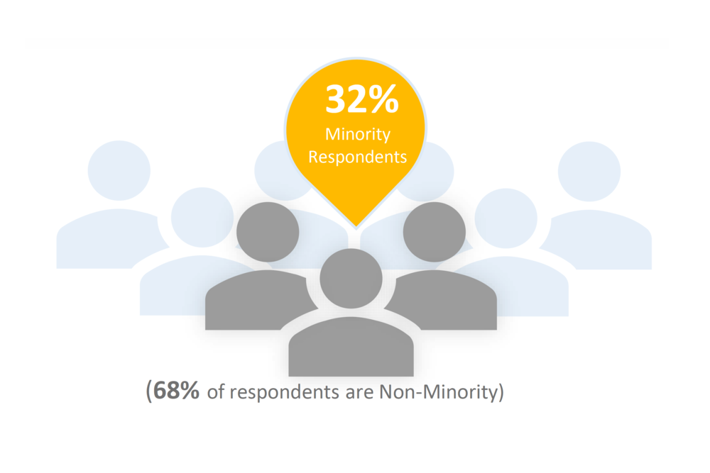 32 percent minority respondents graphic