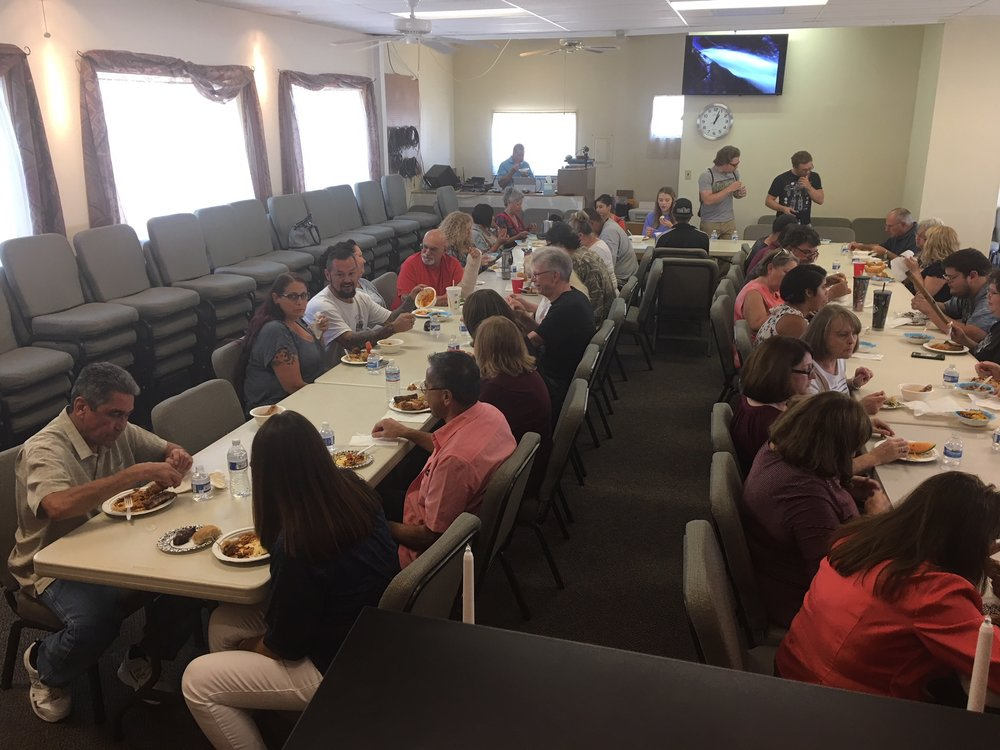 Delicious Food and fellowship at our Labor Day Weekend Potluck
