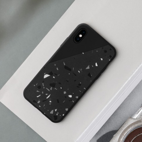 Clic Terrazzo iPhone X Case @nativeunion | Hand-crafted from Jesmonite, this one-of-a-kind case adds a unique pattern to your device while providing protection in a slim and lightweight form | nativeunion.com | $59.99 | 📱