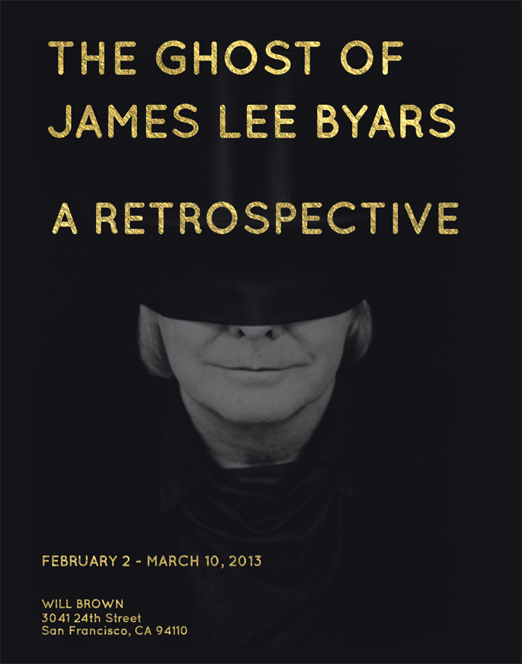 The Ghost of James Lee Byars