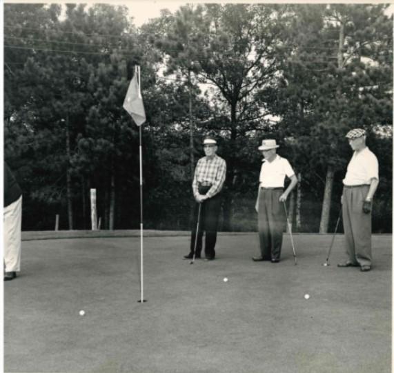 Golfing at Bulls Eye, 1932