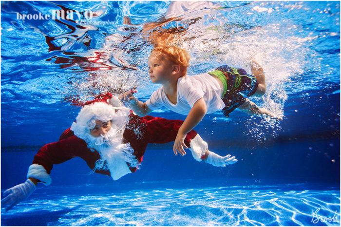 Underwater Portraits with Santa