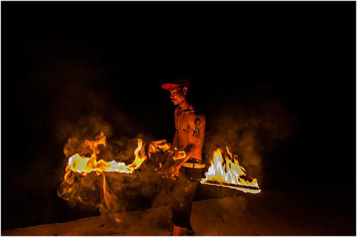 fire show the last bar thailand