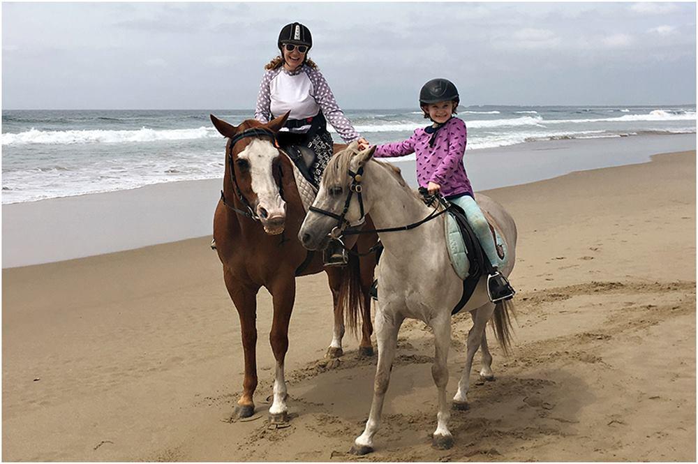 Beach horse back in Coolangatta