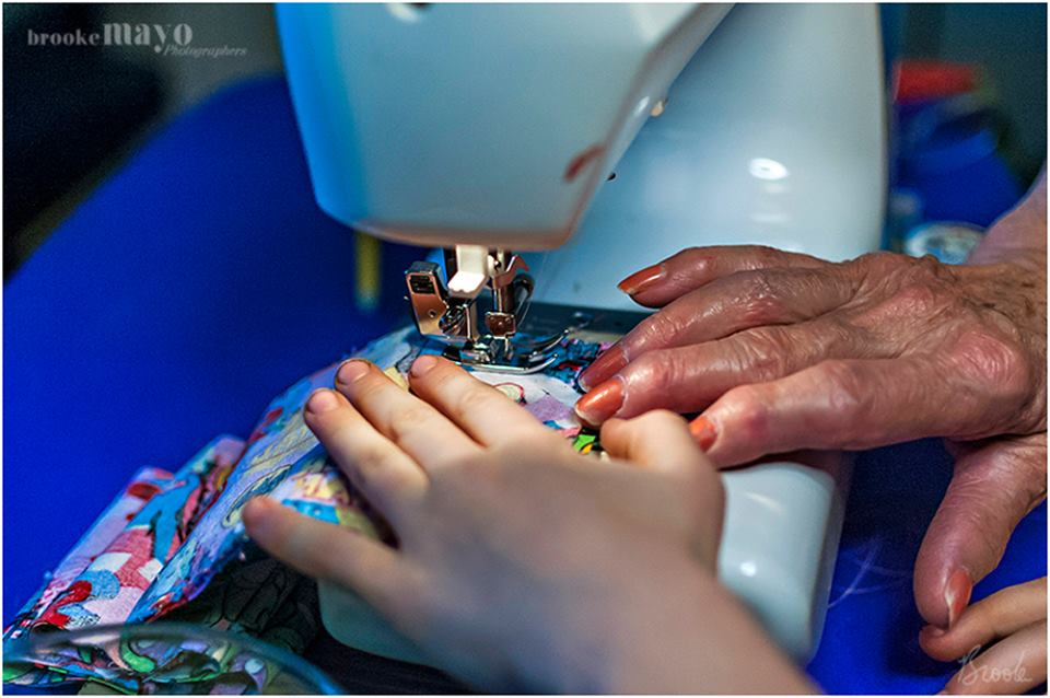 sewing with grandma