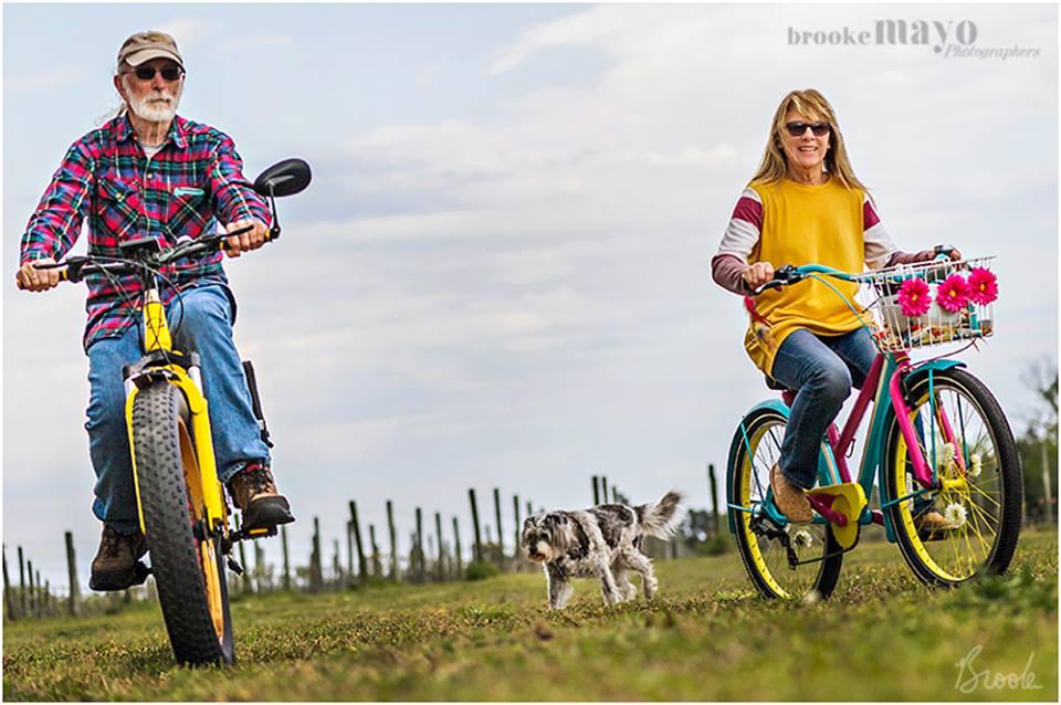 bike at Sanctuary Vineyards
