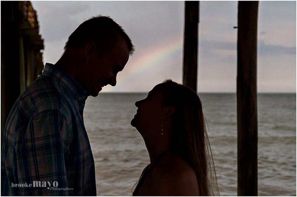 beach rainbow