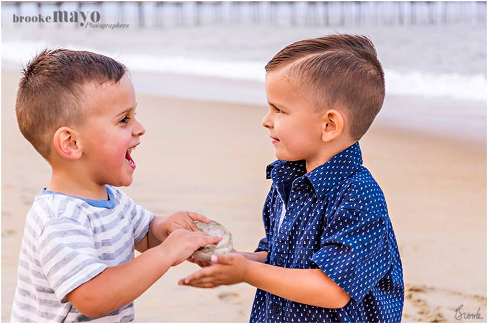 Brothers on the Beach