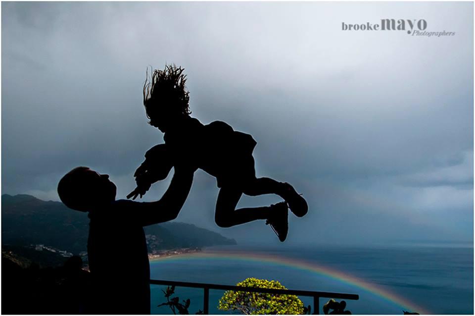 rainbow silhouette