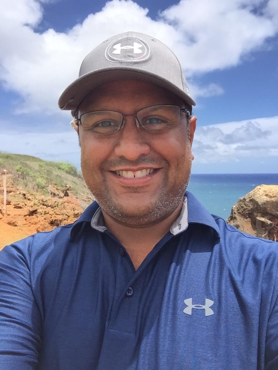 golfing at the marriott waiohai beach club  Poipu, kauai, hi