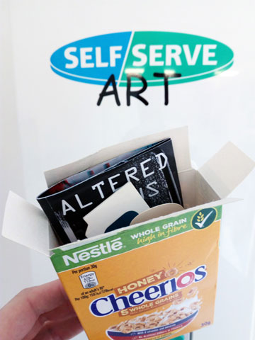 Zines & photobooks in cereal boxes in my last vending machine!