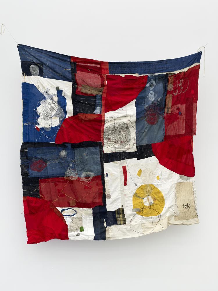 Junko Oki Time Machine,2017 202 x 195  boro (cotton, linen, silk)  Photo:Kristien Daem