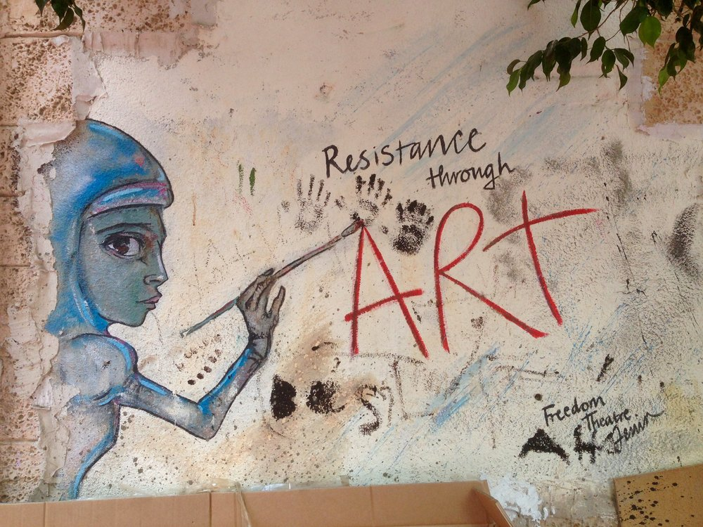 Resistance Through Art, Freedom Theatre, Jenin Refugee Camp, Palestine