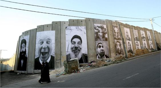 28 Millimeters, Face2 Face - Separation Wall, Palestinian Side In Bethlehem, JR, March 2007