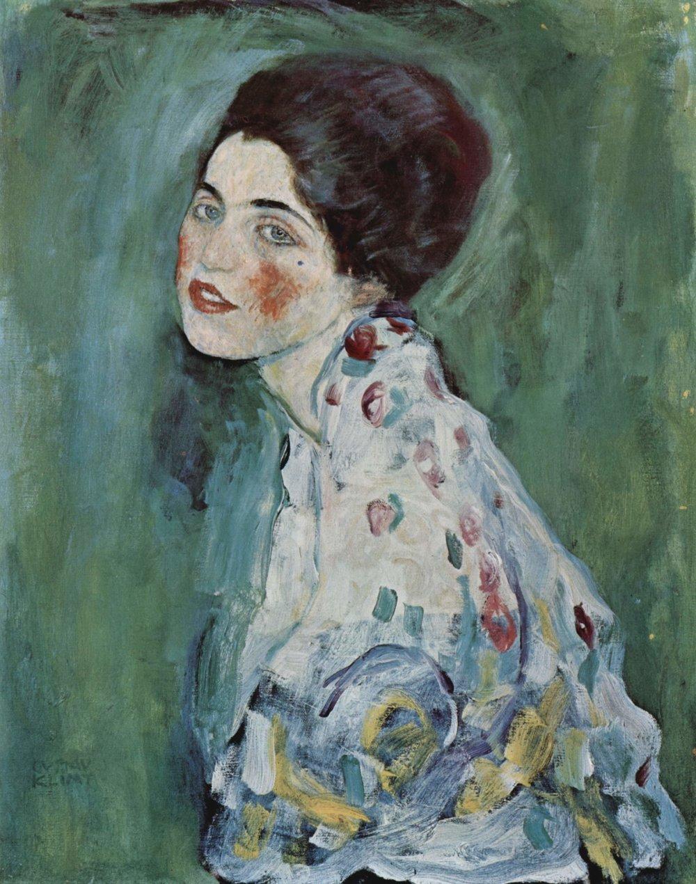 Portrait of a Lady. Gustav Klimt. 1916-17. The Yorck Project (2002) 10.000 Meisterwerke der Malerei (DVD-ROM)