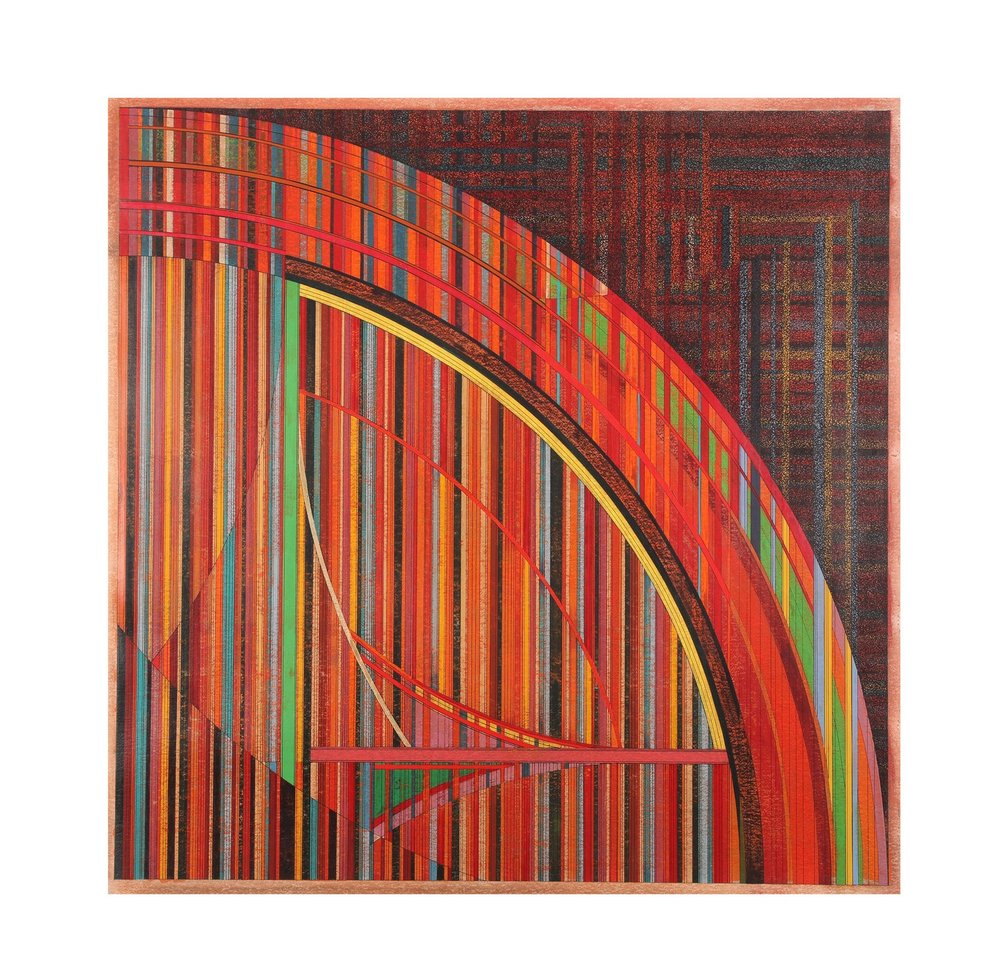 Michael Falzoni 'The Pink Curve Painting'
