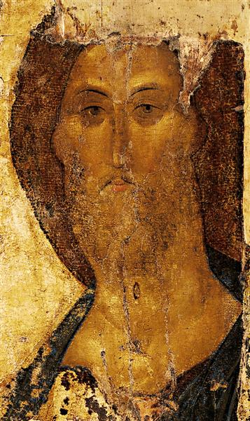 Rublev's depiction of Christ. For 70 years, it was forgotten and abandoned in a stairwell.