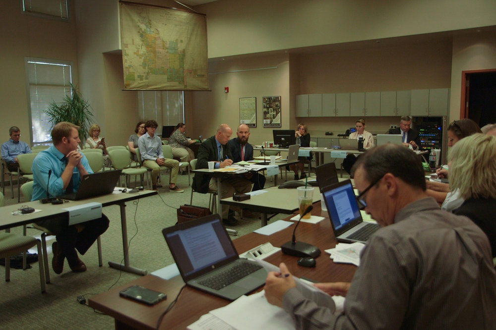 Utah Rivers Council staff present their case to the State Records Committee on August 9, 2018