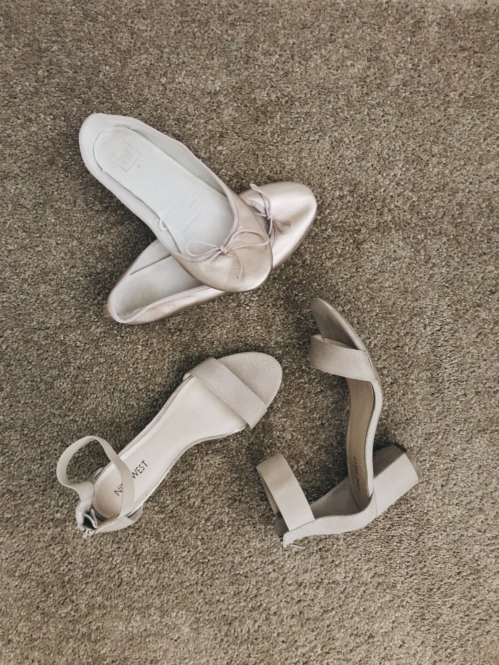 Pictured: GAP ballet flats  and Nine West sandals from four years ago ( similar ).