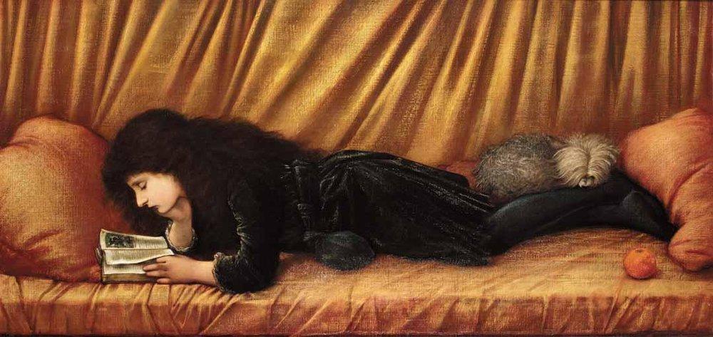"""Portrait of Katie Lewis,"" Edward Burne-Jones (1886)"