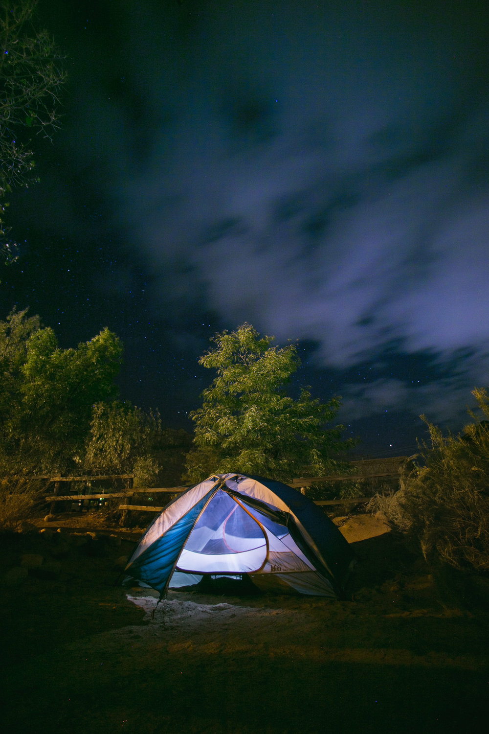night photography tent