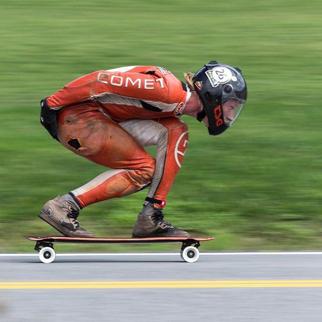 NC boy @adam.p.westfall chugging at Gravity Fest.  Photo: @mattkienzle #cometskateboards