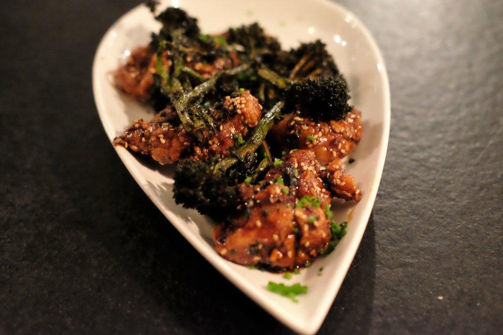 crispy-glazed 'general tso' sweetbreads
