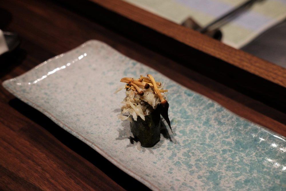 snow crab w. mushrooms
