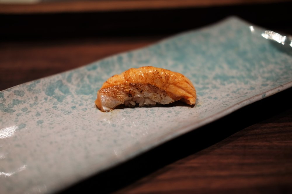 torched artic char belly