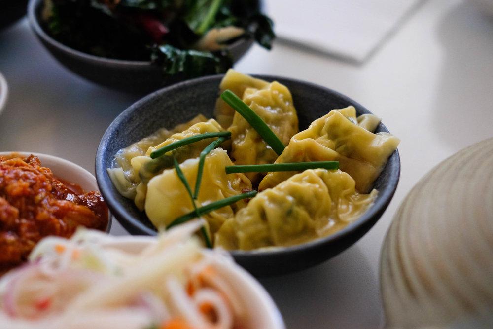 egg & dill dumplings