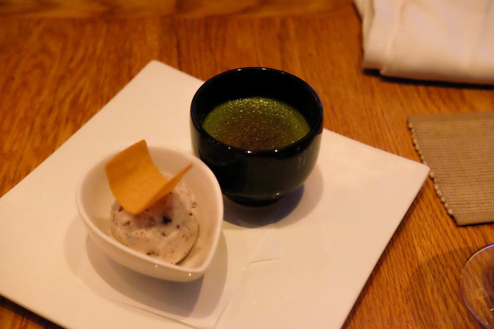 green tea crème brulee