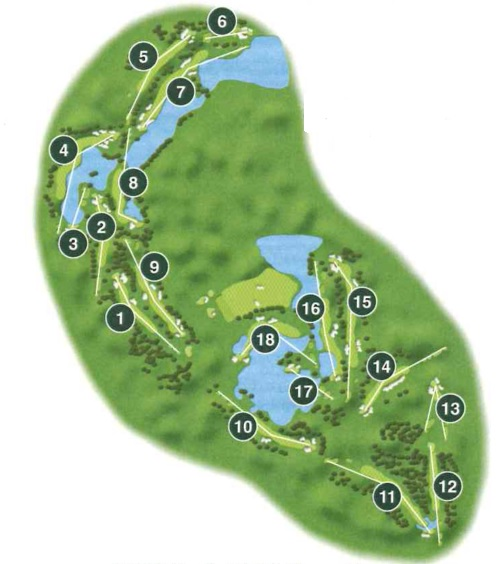 Kemper Lakes Golf Club - Course Layout - Hole-by-Hole