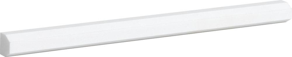 """ML00771 aspen white honed modern pencil liner molding 11/16""""x12""""x11/16"""""""